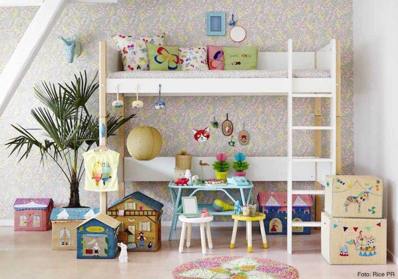 Spielpferd.de-Rice Spielzeugkorb, Korb, Aufbewahrung, Kinderzimmer, Motiv: Zirkus, Farm