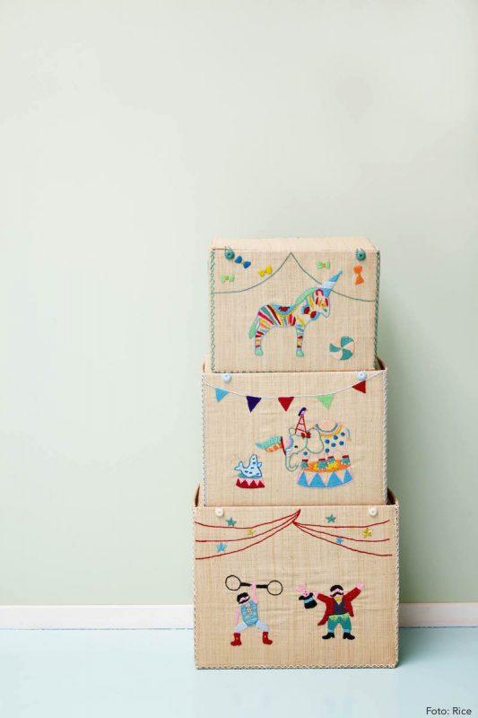 Rice Spielzeugkorb Circus/Zirkus, hübsche Aufbewahrung für Spielzeug im Kinderzimmer