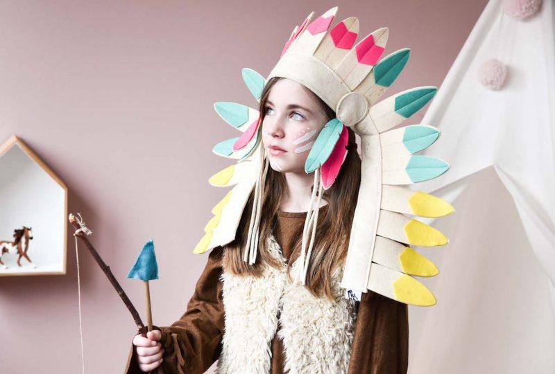 Fasching Indianer Kopfschmuck für Kinder von Frida's Tierchen. Kostüm und Accessoires auf www.spielpferd.de