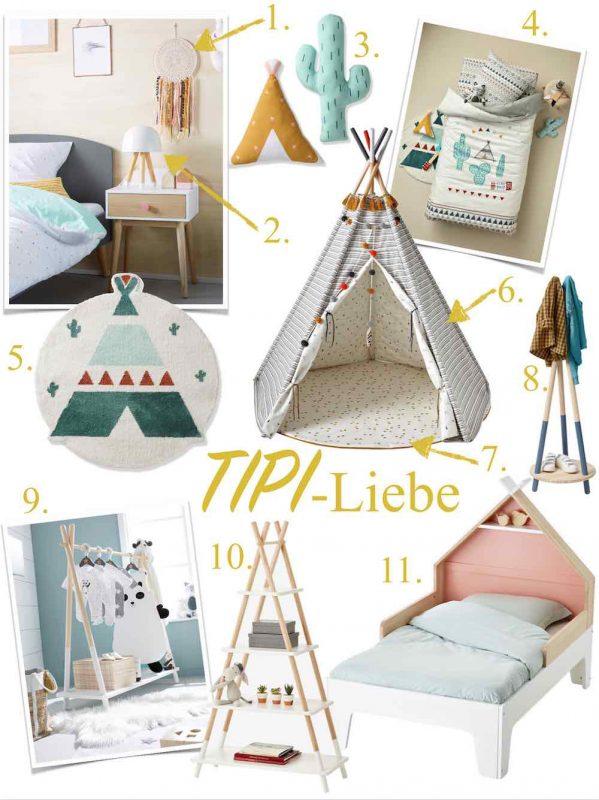 Tipi Kinderzimmer für Tipifans. Tipibett, Tipi, Einrichtung. www.spielpferd.de