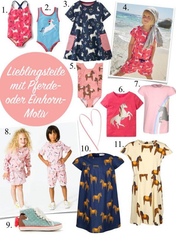 Kindermode Bekleidung Kinder Mädchen Frühling Sommer 2018 Pferde Pferd Einhorn, Kleid, T-Shirt, Shorts, Badeanzug, www.spielpferd.de