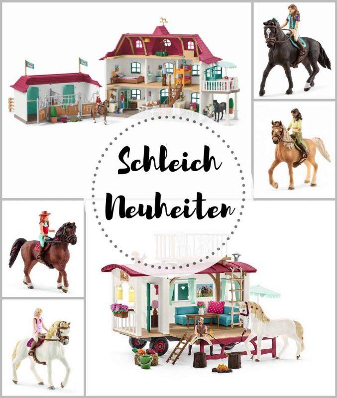 Schleich Neu Neuheiten, Wohnwagen für geheime Treffen, 42415; Pferdehof mit Wohnhaus und Stall, 42416, Horse Club, bewegliche Reiterin, Pferde, Schleichpferde