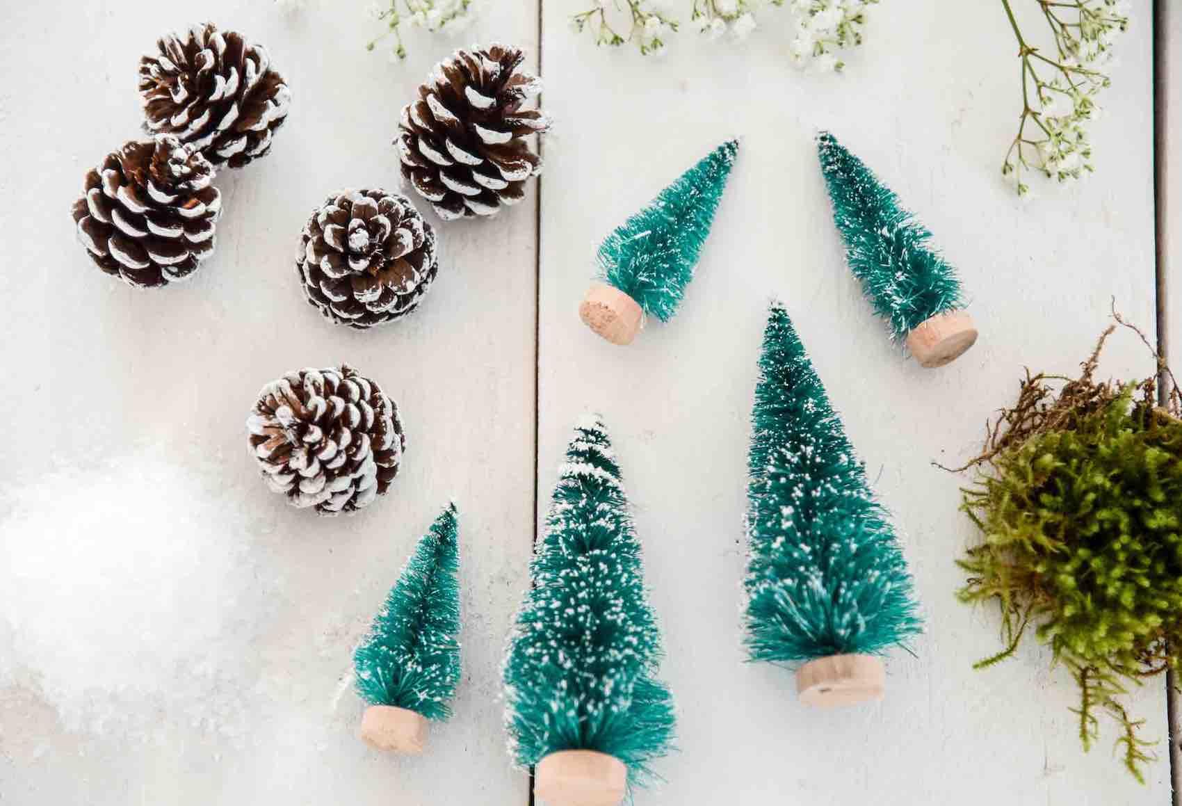 Weihnachtsdeko Weihnachten Dekoration, Basteln mit Kindern, DIY, Winterlandschaft im Glas.