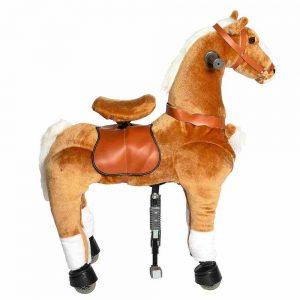 Galoppo Plüschpferd auf Rollen, Pferd mit Rollen braun, Größe: Medium