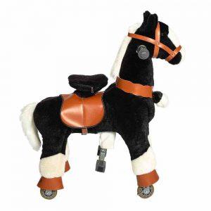 Galoppo Spielzeugpferd zum Reiten, Plüschpferd, Pferd mit Rolen, klein, für Kinder ab 2 Jahren