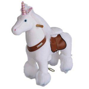 Pferd mit Rollen von Ponycycle, Plüschpferd auf Rollen Medium für Kinder zwischen 4 und 9 Jahren