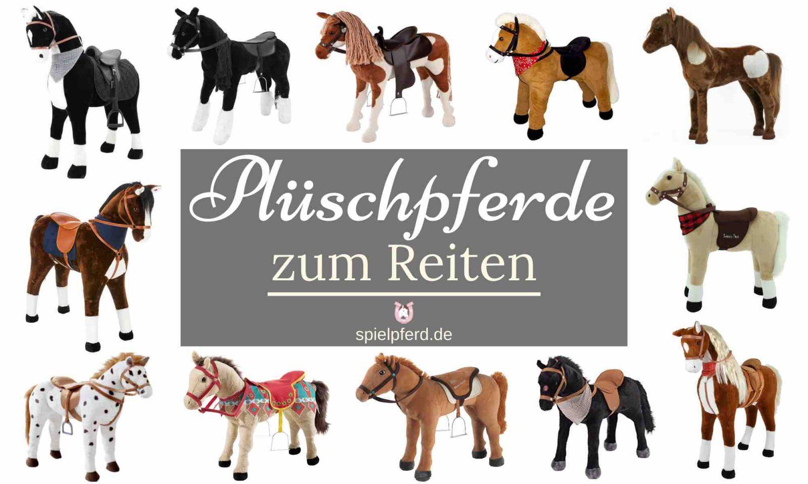 Sound weiß Plüschpferd Pony Pferd Happy People Kinder Spielzeug Einhorn