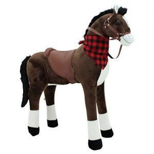 Stehpferd XXL, Plüschpferd zum Reiten von Sweety Toys, braun. Keine Styroporform, darum sehr robust und langlebig.