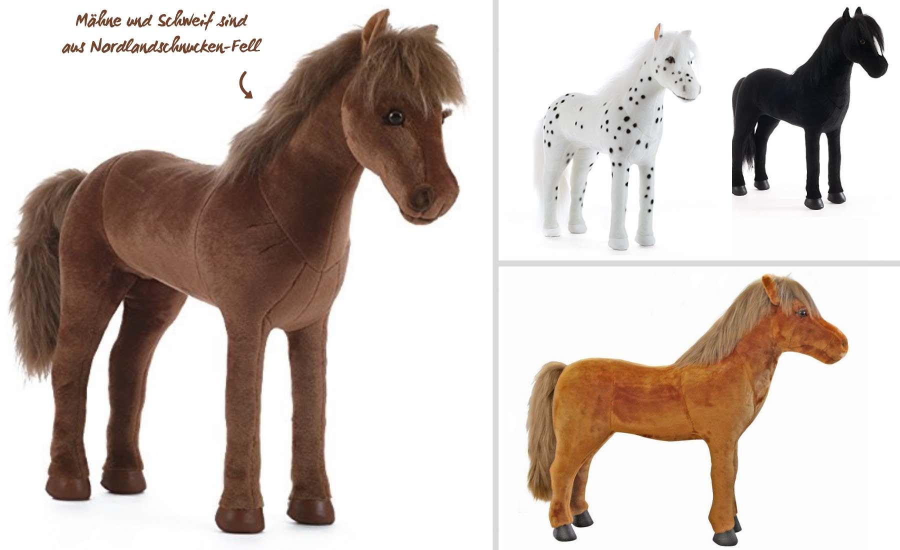 Steiner Pferde, Stehpferd XXL, Plüschpferd zum Reiten, hochwertige Plüschpferde, Made in Germany, besondere Geschenkideen für Pferdefreunde, Pferde Geschenke für Mädchen und Jungen