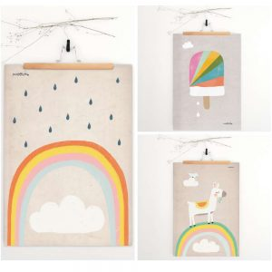 Regenbogen Poster / Print von pusteblumig Design als Dekoration für das Kinderzimmer.
